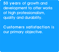 50 years of growth and development to offer works of high professionalism, quality and durability.